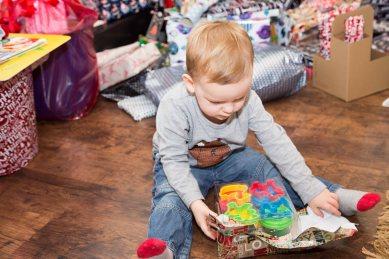 Still opening presents
