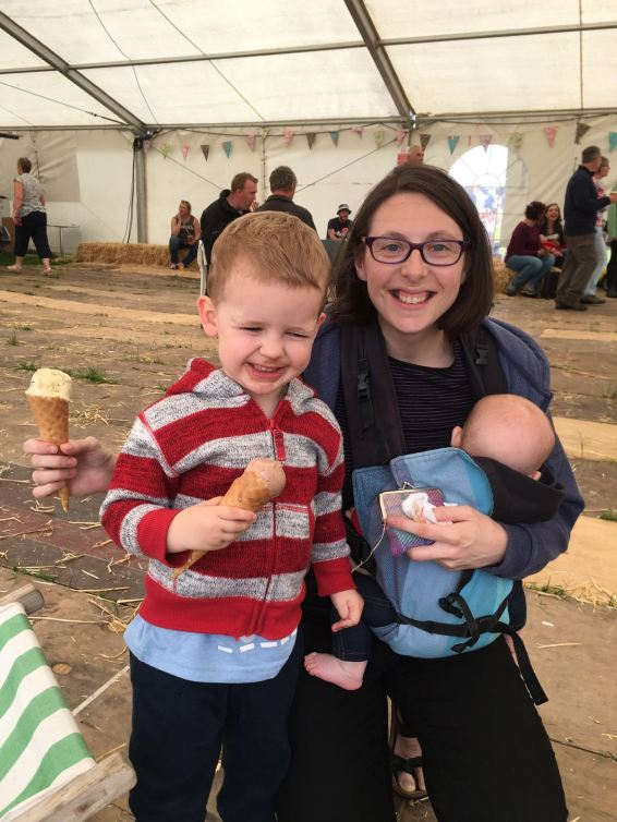 Ice cream at tractor fest