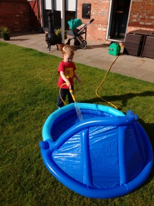 Filling the paddling pool