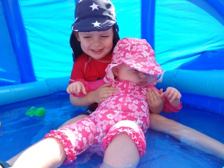A1 and A2 in the paddling pool
