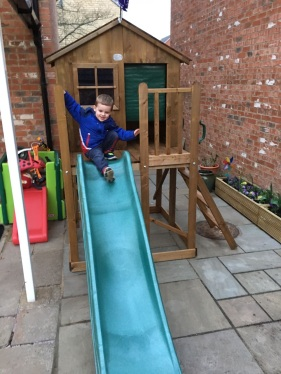 Testing out the slide