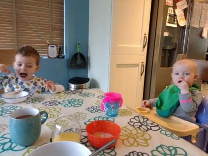 2 min peace when they're eating!