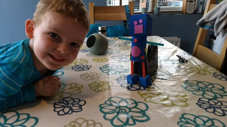 A1 made his own robot!
